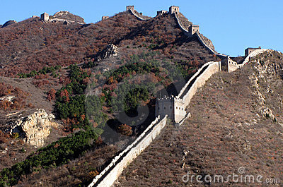 Trekking on Great Wall.