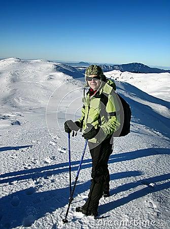 Free Trekking In White Mountains Stock Images - 5098804
