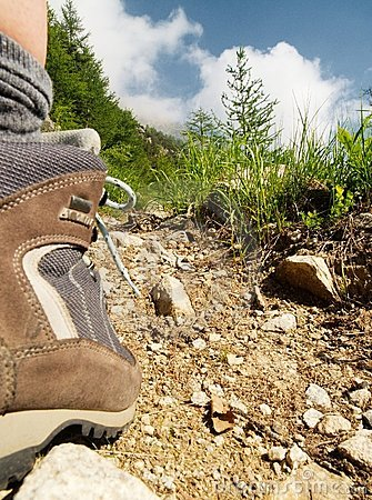 Trekking on the mountains