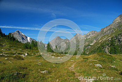 Trekking path in the Ossola Alps