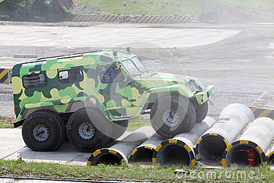 TREKOL terrain vehicle at demonstration Editorial Stock Image