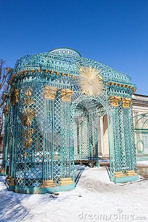 Free Trellised Gazebo Of Sanssouci Palace. Potsdam Royalty Free Stock Image - 30135926