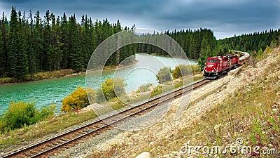 Trem canadense video estoque