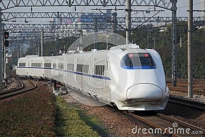 Trem de alta velocidade novo