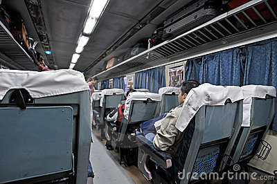 Trem indiano luxuoso Foto Editorial