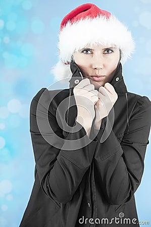 Tremando nel freddo di inverno