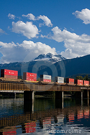 Tren de carga Fotografía editorial