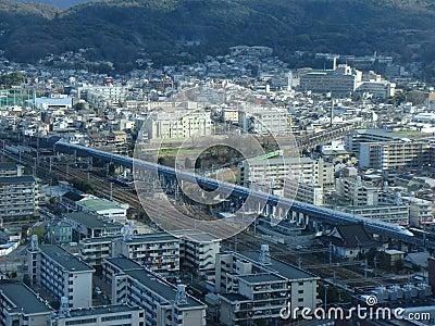 Tren de punto negro de Shinkansen