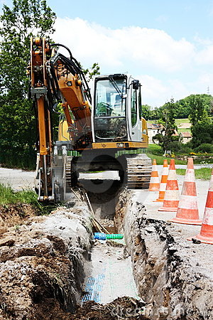 Free Trench For Domestic Utilities Stock Photo - 16209500