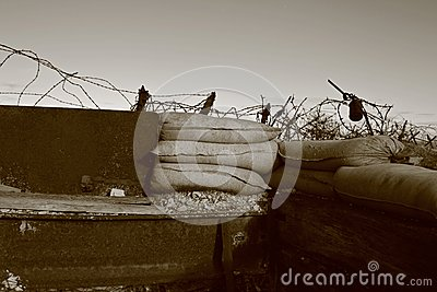 Great War Trenches near Verdun, East of France Editorial Stock Photo