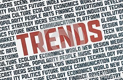 Trends illustration concept
