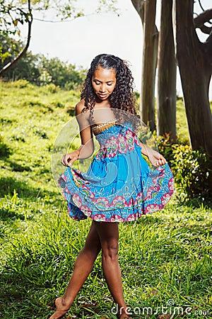 Trendy African American woman