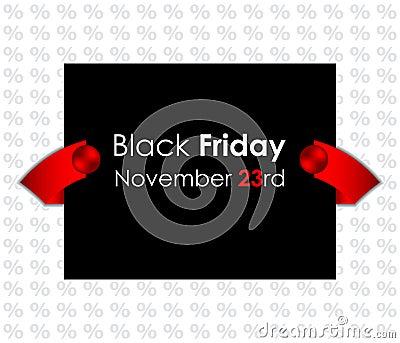 Trendy black friday banner