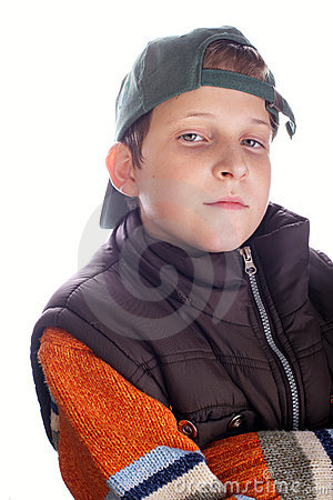 Trendy child posing