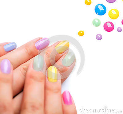 Free Trendy Colourful Manicure Stock Image - 32272991