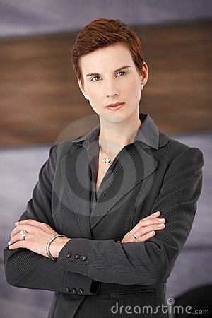 Trendy determined businesswoman