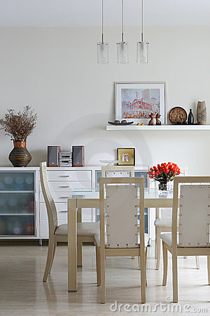 Free Trendy Dining Room Royalty Free Stock Image - 4053736