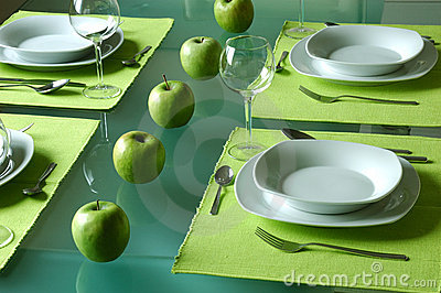Trendy Dining Table Setting Stock Image - Image: 2205221