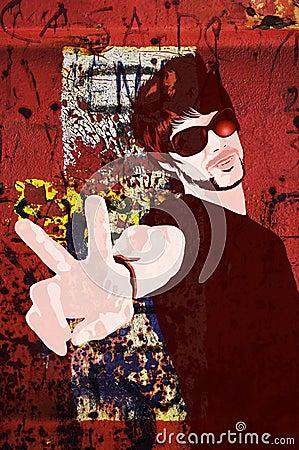 Trendy guy illustration