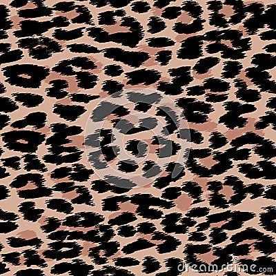 Free Trendy Leopard Or Cheetah Skin Seamless Pattern, Animal Fur Back Stock Image - 93581571