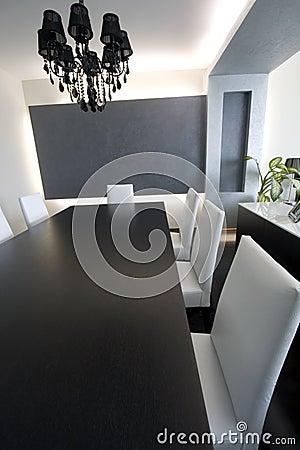 Trendy Modern Dining Room