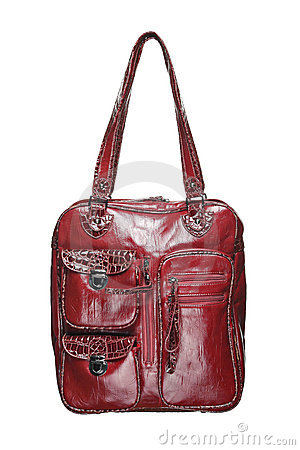 Trendy red purse