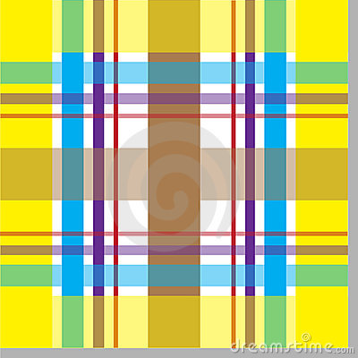 Trendy seamless plaid pattern
