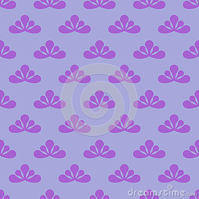 Trendy simple violet leafy  pattern