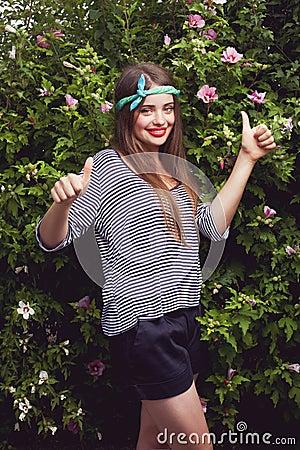 Trendy teen female model