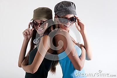Trendy teenage girls