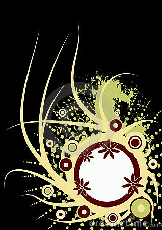 Trendy vector floral design