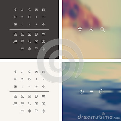 Free Trendy Vector Icons Set In Flat Style Stock Photography - 51388762