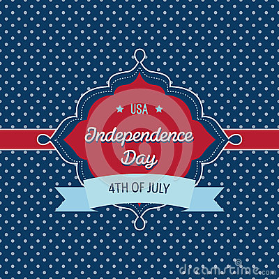Trendy vintage styled July 4th badge