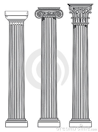 Tres columnas griegas