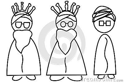 Tres hombres sabios