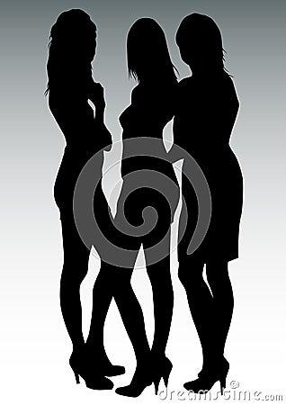 Tres mujeres hermosas.