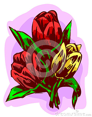 Tres tulipanes