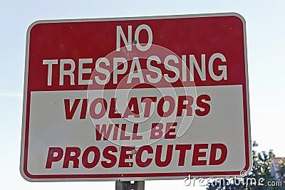 отсутствие trespassing