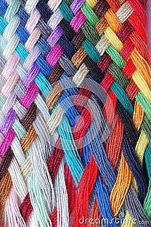 Tresse multicolore de laines