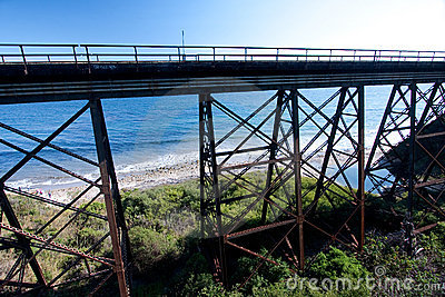 Trestle by the Pacific Ocean