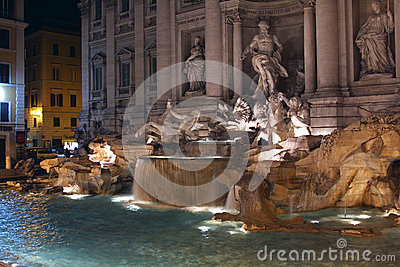 Trevi Fountain Editorial Photography