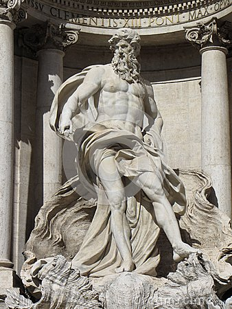 Trevi Fountain God