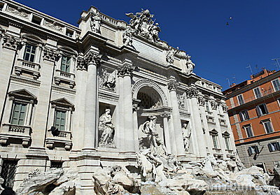 Trevi Fountain, landmark in Rome