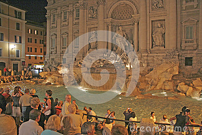 Trevi Fountain , Rome, Italy Editorial Image