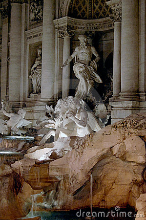 Trevi fountain, Rome detail
