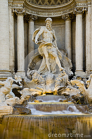 The Trevi fountain, Rome.