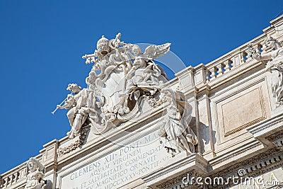 The Trevi Fountain Stock Photo