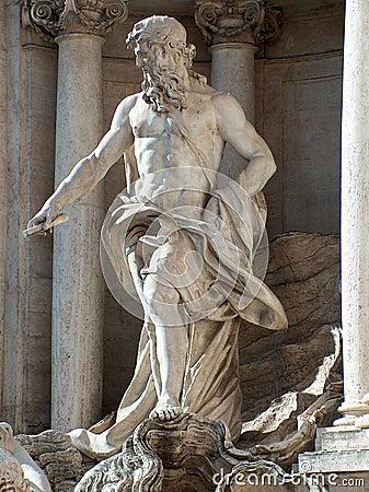 Trevi Fountain Statue - Rome, Italy