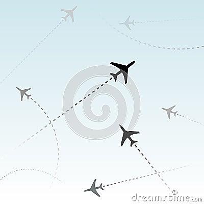 Tráfico aéreo de los vuelos del pasajero de la línea aérea comercial
