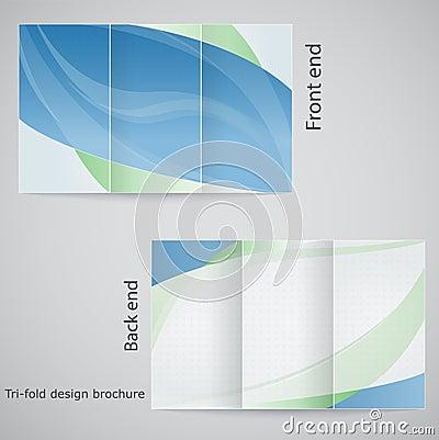 Free Tri-fold Brochure Design. Stock Image - 34424981